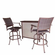 <strong>Panama Jack Outdoor</strong> Island Cove 3 Piece Swivel Bar Set