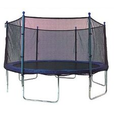 13' Enclosure Trampoline Net Using 6 Straight Curved Poles