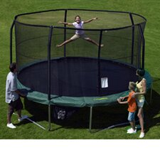 15' Enclosure Trampoline Net Using 5 Poles