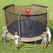 14' Enclosure Trampoline Net Using 3 Arches