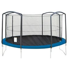 Trampoline Enclosure Net Using 4 Arches