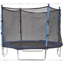 8' Enclosure Trampoline Net Using 4 Straight Poles