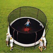 14' Enclosure Trampoline Net Using 6 Straight-Curved Poles