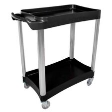 2 Shelf Plastic Service Cart