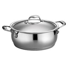 Tramontina Gourmet Domus 5 Qt Covered Dutch Oven with Tri-Ply Base