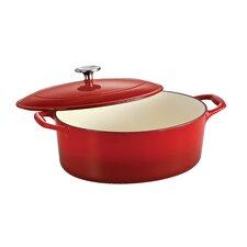 Tramontina Gourmet Enameled Cast Iron 5.5 Qt Covered Oval Dutch Oven Gradated