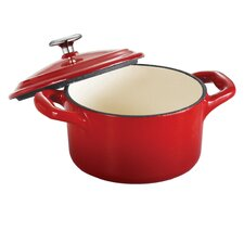 Tramontina Gourmet Enameled Cast Iron 24 oz Covered Small Cocotte Gradated