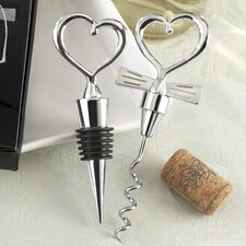 Love and Hearts 2 Pieces ''Cheers to a Great Combination'' Wine Set