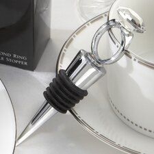 Whimsical  'With This Ring'' Diamond Ring Bottle Stopper