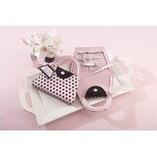''Pink Polka Purse'' Manicure Set