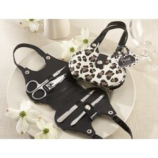 """Chic Cheetah"" Animal-Print Purse 4 Piece Manicure Set"