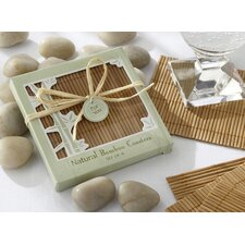 Natural Bamboo Eco-Friendly Coaster Favor