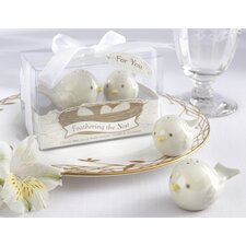 """Feathering The Nest"" Ceramic Birds Salt and Pepper Shaker (Set of 96)"