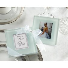 Forever Photo Frosted Glass Coaster