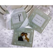 """Good Wishes"" Pearlized Photo Coaster"