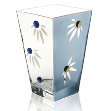 <strong>Womar Glass</strong> Hand Painted Glass Love-me-not Series Vase