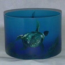 <strong>Womar Glass</strong> Sea Turtle Vase