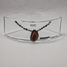 "<strong>Womar Glass</strong> Precious Stone 6"" Agate and Oxide Precious Stone Series Bowl"
