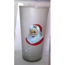 <strong>Womar Glass</strong> Santa Claus Vase
