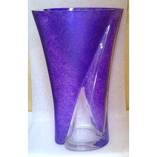 <strong>Womar Glass</strong> Wavy Indigo Vase