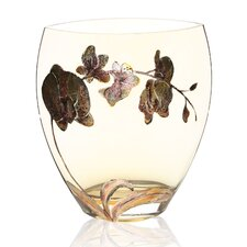 Hand Painted Glass Orchid Series Vase