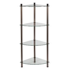 "14"" x 43"" 4 Shelf Corner Tower"