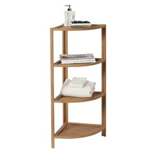 "14.75"" x 39.5"" 4 Shelf Corner Tower"