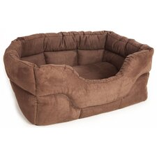 Machine Washable Rectangular Heavy Duty Faux Suede Softee Dog Bed