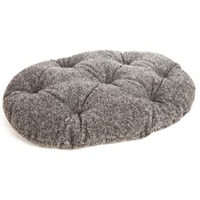 Machine Washable Oval Sherpa Fleece Dog Cushion Pad