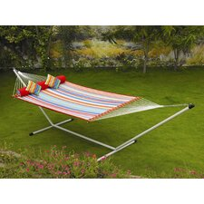 Large Quilted Fabric Hammock with Stand