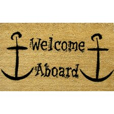 <strong>Home & More</strong> Welcome Aboard Doormat