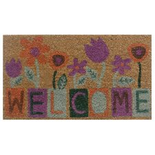 Flower Blocks Welcome Doormat