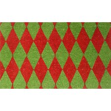 <strong>Home & More</strong> Christmas Argyle Doormat