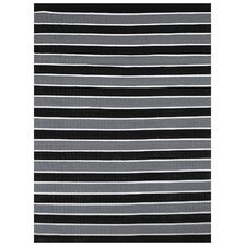 Black Stripe Area Rug