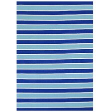 Blue Stripe Indoor/Outdoor Area Rug