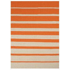 Stripe Orange Indoor/Outdoor Area Rug