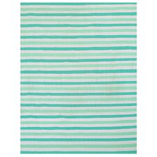 <strong>Home & More</strong> Green Stripe Rug