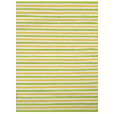 <strong>Home & More</strong> Lime Stripe Rug