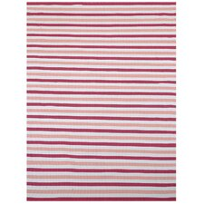 Pink Stripe Area Rug