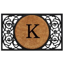 <strong>Home & More</strong> Circle Monogram Doormat