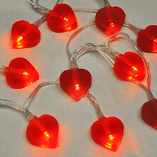 10 Light Heart String Light