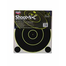 "Shoot-N-C 12"" Bull's Eye SRC-5 Round 200 Yard Target (12 Per Pack)"
