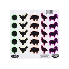 Dirty Bird Multicolor Animal Target (20 Per Pack)