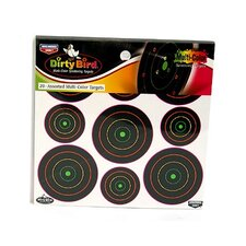 "Dirty Bird 2"" and 3"" Multicolor Target (20 Per Pack)"
