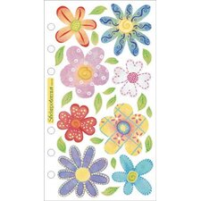 Vellum Pastel Flowers Sticker