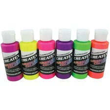 2 oz Fluorescnt Airbrush Paint Set