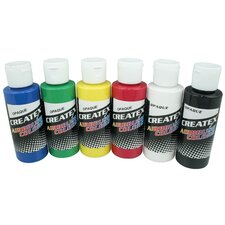 <strong>Createx Colors</strong> 2 oz Opaque Airbrush Paint Set