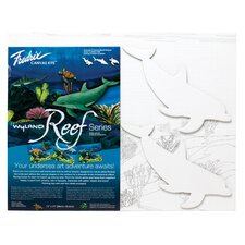 <strong>Fredrix</strong> Wyland Reef Series Dolphin Canvas Kit