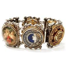 Vintage Buttons Link Bracelet