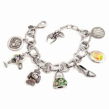 <strong>Sweet Romance</strong> Girly Things Retro Charm Bracelet